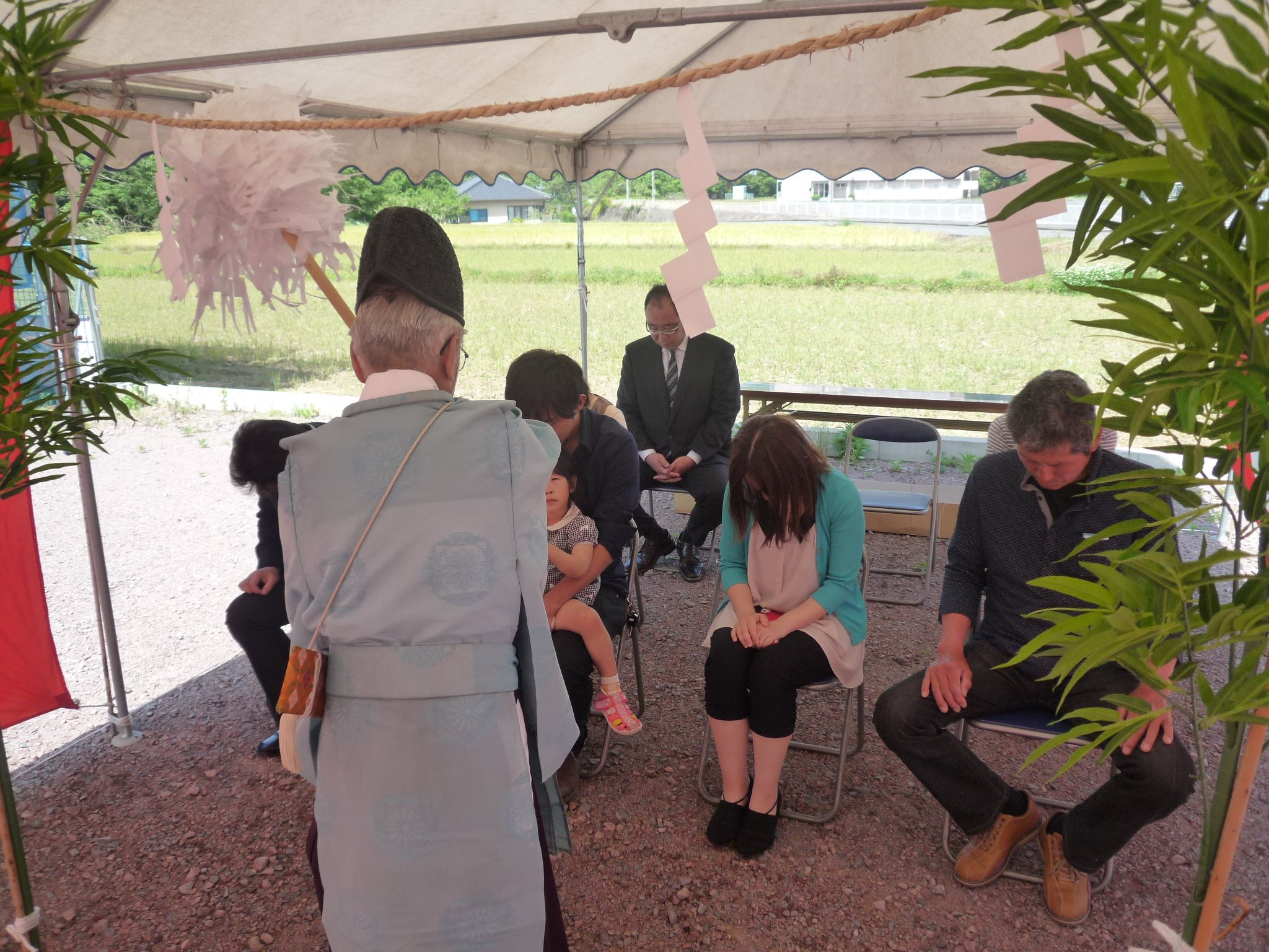 大分県宇佐市K様邸の地鎮祭を行いました